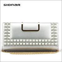 Hot Sell High Quality Women Envelope Metal Clutch Bag Evening