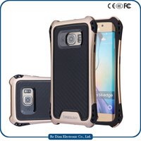 New design 3 in 1 pc tpu protective shockproof hard phone cover case for samsung galaxy s6 edge