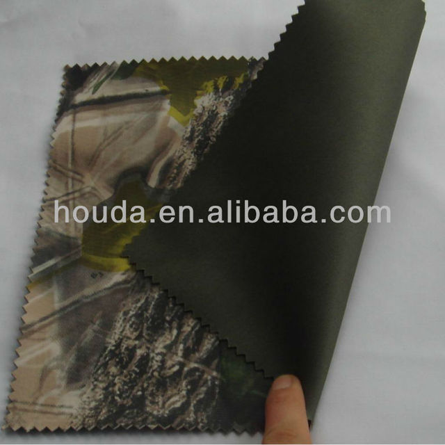 Knitted Fabric With Camouflage PVC Coating For Waterproof Pants waders