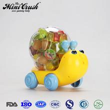 Snail toy mini real fruit jelly candy ,mini fruit coconut jelly