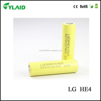 battery manufacturer LG HE4 2500mah lithium iron phosphate battery li ion lg battery pack