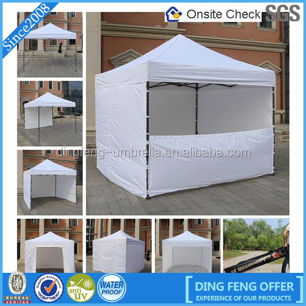 Easy Up Folding Gazebo Tent / Trade Show Pop Up Tents / Vendor Advertising Tent