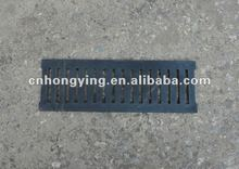Light duty cast iron trench drain grate