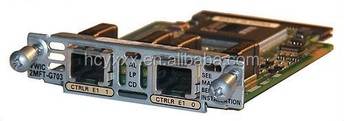 VWIC-2MFT-G703= CISCO MULTIFLEX TRUNK VOICE/WAN INTERFACE CARD G.703 - EXPANSION MODULE - 2 PORTS