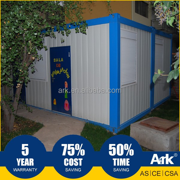 Ark Top Quality Good Price Long Lifespan Flatpack Prefabricated Steel municipal field Portable Classrooms