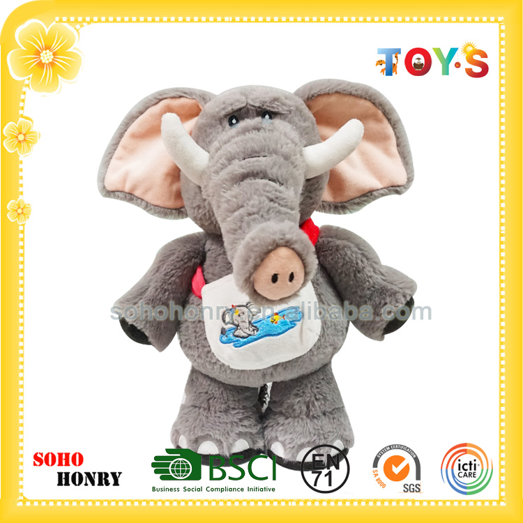 Wholesale Plush and Stuffed Elephant Toys with Big Ears for Gift