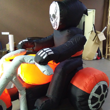 Popular halloween moto carriage inflatable ghost with moto for festival decoration