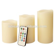 Wax led candle light with remote control