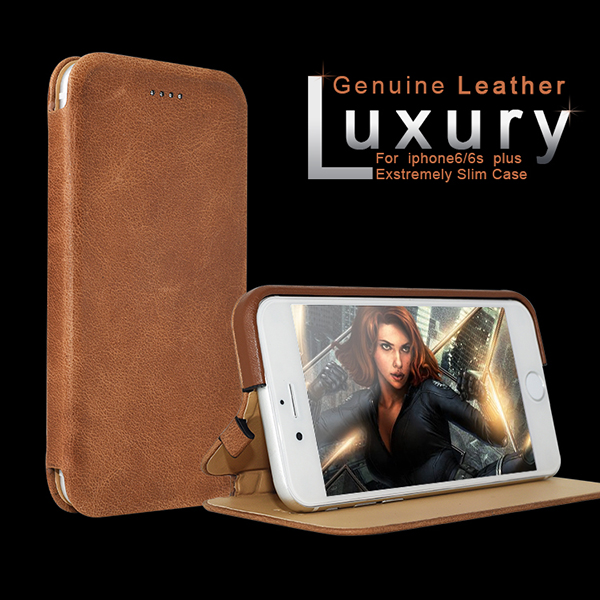 Italian Business man Brown Color Genuine Leather Cover Case for iphone