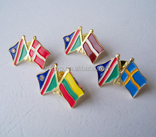 High quality custom made national flag lapel pin badges