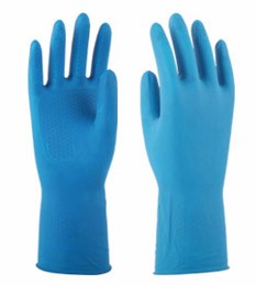2017 waterproof spray flock lined vinly powder free gloves for housework