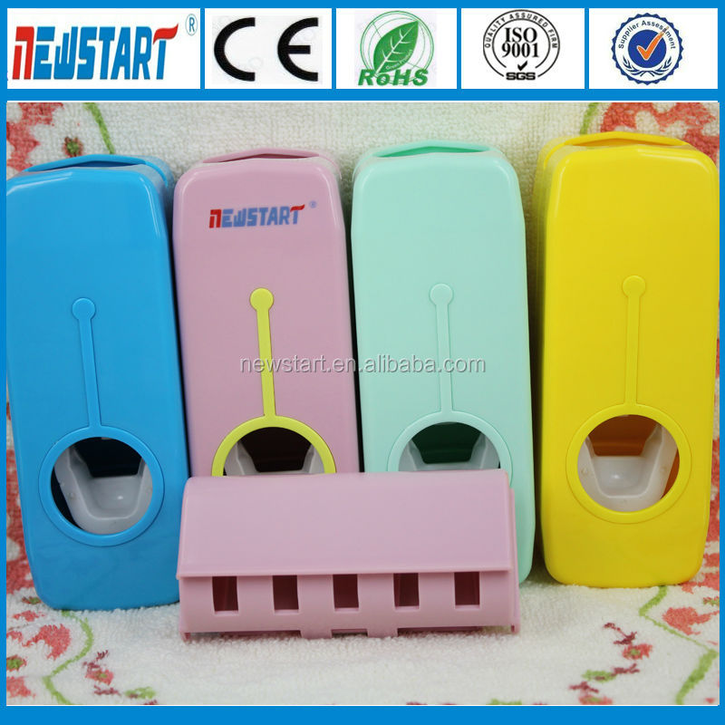 Bathroom Set Automatic Toothpaste Dispenser with Toothbrush Hanger