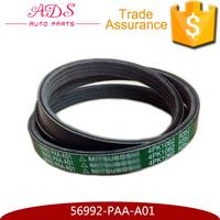 Auto poly v belts Japan car engine fan belt transmission belt OEM:56992-PAA-A01