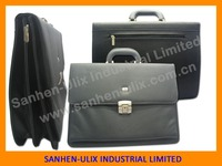 LYCHEE GRAIN PU EXECUTIVE BRIEFCASE BUSINESS CARD HOLDER,BLACK BRIEFCASE