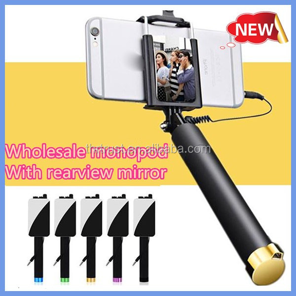 Wholesale Hot selling Best Quality Bluetooth Selfie Stick 2015 with bluetooth shutter button