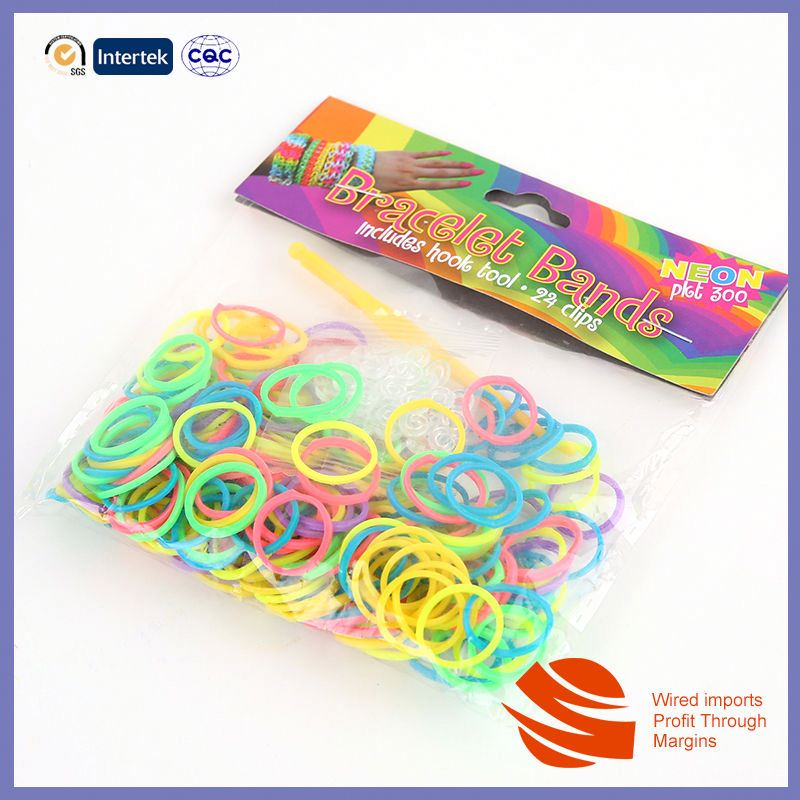 Colorful Design Top Quality loom bands glitter