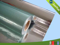 Aluminum foil fabric faced thermal insulation material house wrap