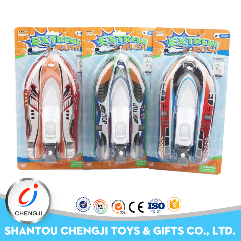 New products kids flashing fighting plastic pop pop boat toy