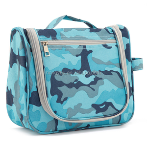 Camouflage Fashion Women Portable Hanging Waterproof Travel Wash Bag Folding Travel Cosmetic Bag Travel Organizer Bag with Hooks