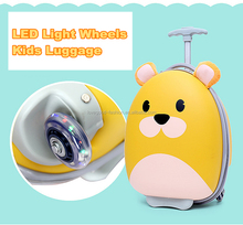 2 Pieces LED Wheels Luggage Set Lightweight EVA Upright Carry On Suitcase and Backpack for Kids
