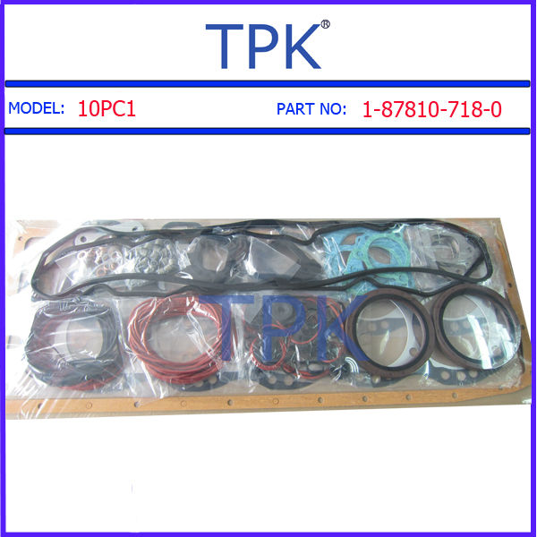 Isuzu 10PC1 Engine Rebuild Overhaul Gasket Set, 10PC1-T Repair gasket kit 1-87810-718-0 1-87810-317-0