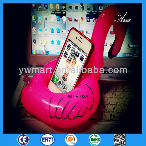 New Style cute goose-shaped inflatable mobile phone holder