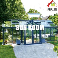 Baifu Freanch Style Selection Aluminum Outdoor Glass Room