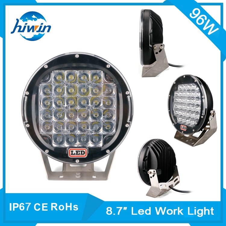 Hiwin 96W 9inch Ce Rohs Approved 6000k Color Temperature 96w led work light led headlight tuning light