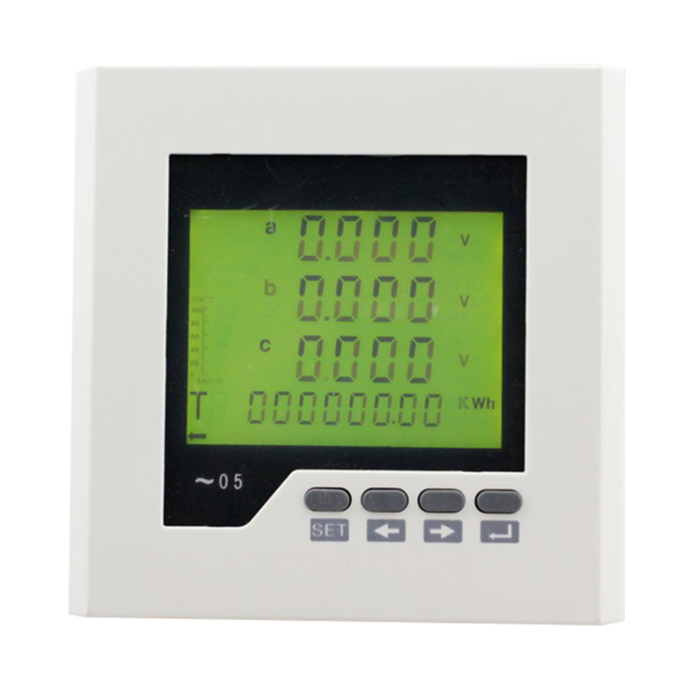 ME-3FHD2Y panel size 120*120mm LCD digital 3-phase energy <strong>meter</strong>, with multi-rate and harmonic measurement