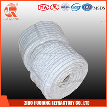 Refractory sealing fiber glass braided square rope