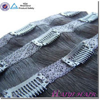 Wholesale Virgin Remy Double Drawn Clip-In Yaki Human Hair Extensions