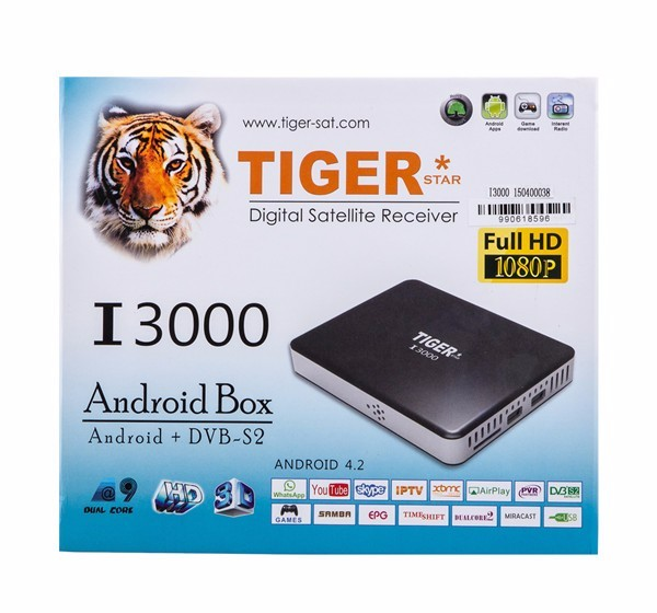 New Tiger I3000 With 1 Year Free Poptv 1 Year Free Atlas IPTV
