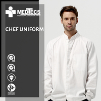 White Hotel Polyester waiter attendant soft texture classic uniform