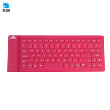 Factory hot sale 2.0 usb silicon mini bluetooth keyboard