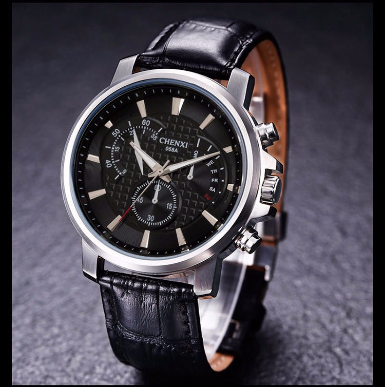 CX 058 A 2 Business Japan Movt <strong>Water</strong> Resist Men Cheap price Leather Wrist Watches
