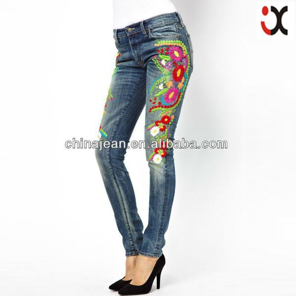 Fashion New Design Women Jeans Embroidery Designs Jxl20194 - Buy ...