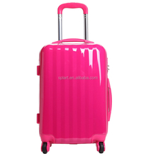 New popular candy colors and ABS hard shell luggage aluminum trolley case