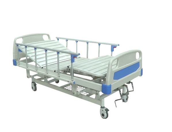 A-42 Three-function Manual Hospital Bed with ABS Bed Head