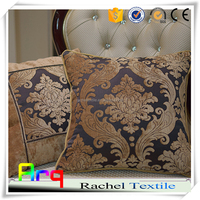 Chenille fabric for elegant sofa cushion cover classic India style heavy fabric latest design