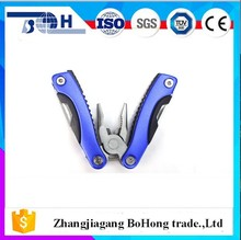 Factory price stainless steel pocket multi pliers for outdoor survival use with saw