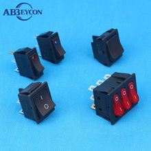 WITH NEON OR LED LAMP BIG CURRENT SILVER CONTACTS ROCKER SWITCH 12v 24v electric led light ac dc