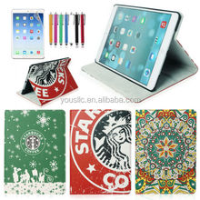 Fashion Starbucks Magnetic PU Leather Stand Case For New iPad Air 5