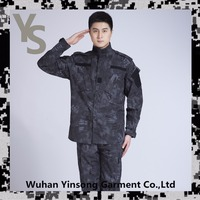 [Wuhan YinSong] Ripstop ACU military tactical uniform top popular black python camo army uniform
