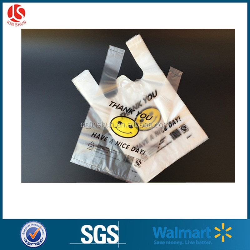 Retail HDPE / LDPE T-shirt Shopping Plastic Bag / Carrier Bag for Supermarket Grocery Packing