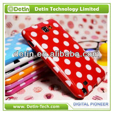 New fashionable Polka dot design tpu case for samsung galaxy note 2 n7100