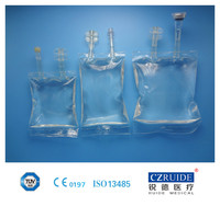 medical PVC Infusion bag/ PVC IV infusion bag (double tube )