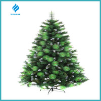 6ft fashionable pine needle mixed pvc leaves with frosted top artificial christmas tree