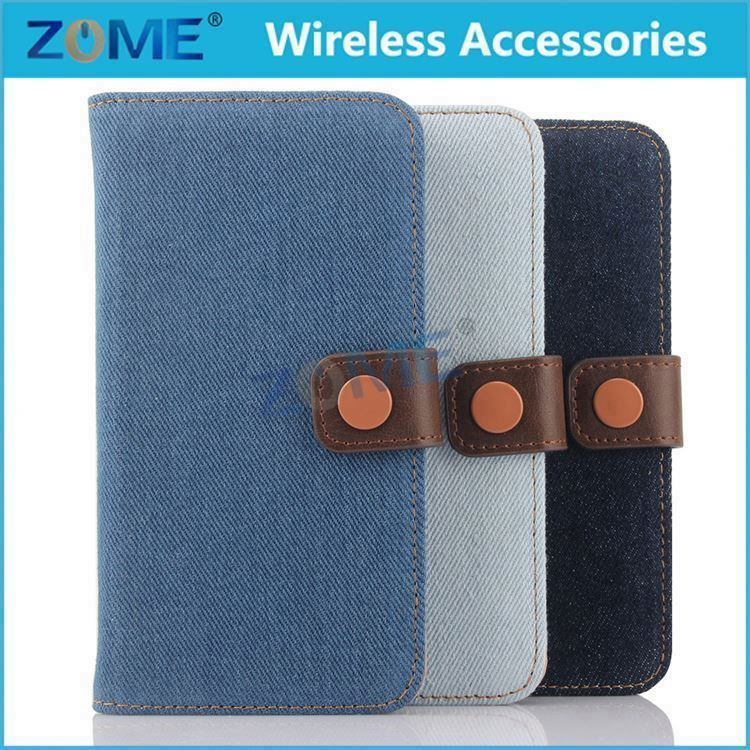 New Smart Phone Case For Samusng S6 Leather Wallet Designer Cowboy Cloth Cases