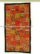 INDIAN TRIBAL HANDMADE SARI TAPESTRY WALL HANGING THROW