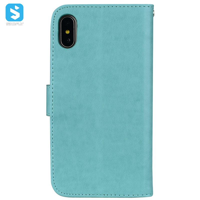 Emboss PU leather case cover for iphone XS MAX